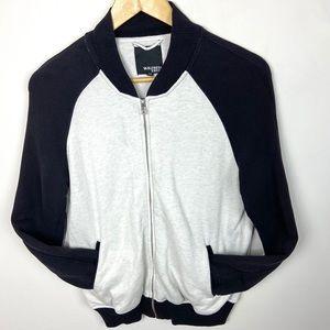 Aritzia Wilfred Free Black & White Zip Sweatshirt